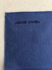 JACOB COHËN Foulard Pochette Bandana Bleu Uni NEUF