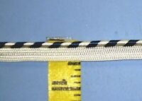 "Lip Cord Trim Rayon Piping Lip Cording Trim 1/8"" Navy Blue White 10 yds #56"