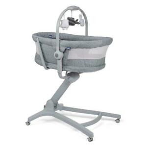 New Chicco baby Hug Air Titanium 4 in 1 Crib Recliner Highchair Table Chair 0m+