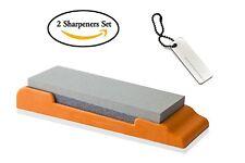 JJMG NEW 2pc Set of Non-Slip Knife Sharpener And Coated Pocket Knife Sharpener