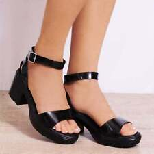 Block Heel Rubber Sandals & Flip Flops for Women