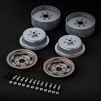 Gmade 1.9 SR05 Beadlock Wheels Uncoated Silver For 1.9inch Tires RC Car #GM70507