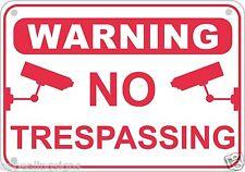 No Trespassing Video Surveillance Warning Sign Aluminum Home Business Security