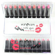 New 10pcs Lipstick The Balm Moisturizing Shimmer Lipstick Sample Size Set
