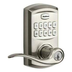 Kwikset SmartCode 917 Entry Residential Electronic Lever 99170-001 Satin Nickel