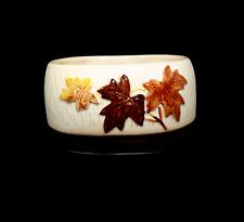 More details for sylvac maple leaf design ornate high quality planter vase 16cm wide 9cm tall