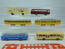 AU990-0,5# 6x Wiking H0 aficionado - tranvía/Bus: 740+741+700+730 MAN+72 Büssing