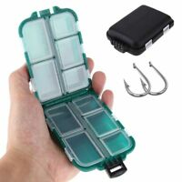 Fishing Tackle Pocket Box Compartments Storage Case Plastic Lure Spoon Hook Carp