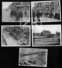 BELGIQUE GUERRE WWI La Panne 5 Phot Plage Vue aérienne Artillerie Blessés 15-17