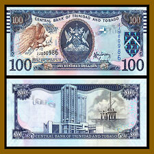 Trinidad and Tobago 100 Dollar, 2006 (2014) P-New Marking for the Blind Unc