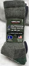 4 Pair Mens 72% Merino Wool Blend Hiking Hunting Trail Socks USA Made L Large