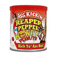 ASS KICKIN' CAROLINA REAPER PEPPER HONEY PEANUTS 4.25 oz HOT SPICY SWEET
