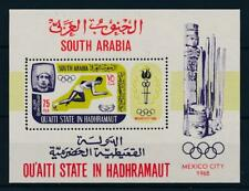 [95525] Aden Qu'aiti State Hadhramaut 1967 Olympic Games Mexico Sheet MNH