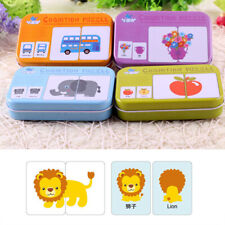 CC_ Baby Kids Cognition Puzzle Toys Toddler Iron Box Cards Matching Game