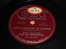 Bob Mason: Just A Hand Full Of Mem'Ries / Move On Gal 78