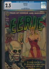 Eerie#1 CGC 2.5 - Avon May, 1951 - Pre Code Horror Good Girl Bondage Cover