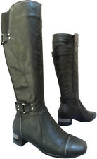 Women's Lunar GLC376 Warm Fur Lined Knee High Length Black Winter BOOTS Size 4
