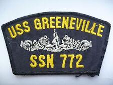 "US NAVY BASEBALL CAP BADGE  ""USS GREENVILLE"""