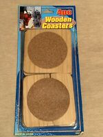 4pc Wooden Coasters Make Buy Right Now
