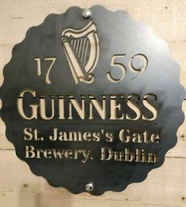 *Premium* Guinness Irish Metal Sign Hand Finished Man Cave Wall Art Bar beer