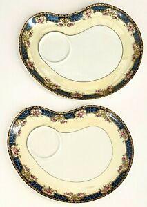 Vtg 1928 Antique 2 Haviland Limoges France Concord Snack Plates Dishes No Cups
