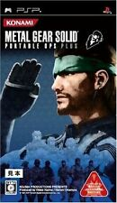 Used PSP METAL GEAR SOLID PORTABLE OPS SONY PLAYSTATION JAPAN IMPORT