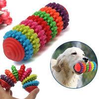 Durable Rubber Pet Dog Puppy Cat Dental Teething Healthy Teeth Gums fun Toy.
