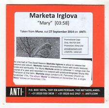 (FY605) Marketa Irglova, Mary - 2014 DJ CD