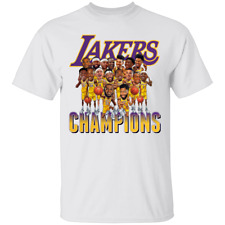 Basketball Finals Champions Team Caricature Los Angeles Lakers 2020 T-shirt M...