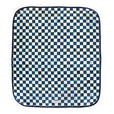 Mackenzie Childs ROYAL CHECK Blue PET BLANKET -LARGE- 50x60 Dog Bed NEW m20-jl