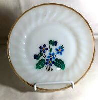 """Fire King Shell Hand Painted Blue Violet 7 1/4"""" Salad Plate"""