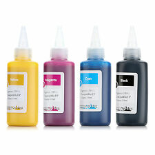 4 Color Set Waterproof Anti-UV Pigment Ink for Epson Refillable Cartridge 100ml