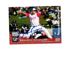 Brandyn Sittinger autographed signed 2018 Midwest League All Star card Whitecaps