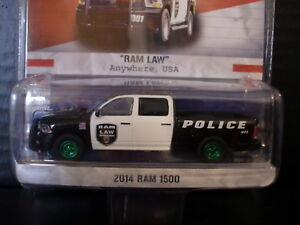 Greenlight 2014 Dodge Ram 1500 Police Truck Green Machine 1/64 Die Cast