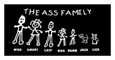 The Ass Family Stick Family 5x10 Car Truck Window Vinyl Decal Sticker