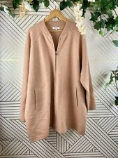 MADEWELL Bomber Sweater Jacket Pink Zip Up Size 3X Wool
