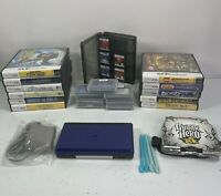 Nintendo DS Lite Cobalt Blue Handheld Console Bundle With 23 Games Charger