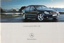 Mercedes-Benz C-Class Saloon Specification 2005 UK Market Brochure