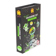 Tiger Tribe Portable No Mess Colouring Set - Neon Outer Space