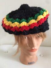 Knitted Rasta Reggae Jamaica Cap Retro