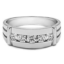 0.25 Ct Certified Diamond Mens Engagement Ring 14K White Gold Bands Size 9 10 11