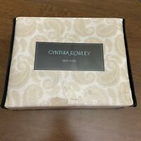 Cynthia Rowley Twin XL Dorm Paisley Sheet Set NIP