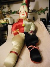 "34"" Vintage Mask face Clown  cloth doll"