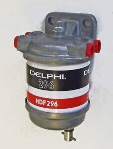 Delphi DIESEL Fuel Filter, bulkhead mount, UNF ports, MARINE TYPE 2-76939