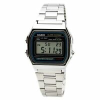 Casio Men's Watch Classic Digital Grey Dial Stainless Steel Bracelet A158W-1