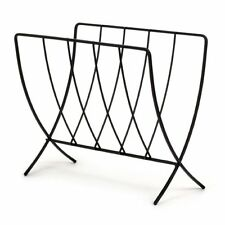 Spectrum Newspaper Magazine Rack Holder Storage Stand Organizer Floor Black