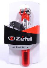 Zefal Profil Micro Road Bike Mini Frame Pump Aluminium 100 PSI Red / Silver
