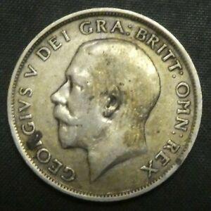 1917 Great Britain Silver Shilling GEORGE V KM# 816