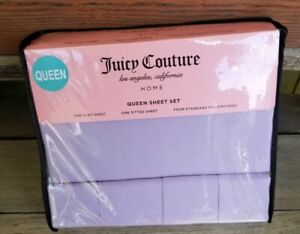 Brand New JUICY COUTURE Queen Sheet Set w/ 4 pillow cases. Beautiful purple.