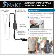 Quick Release Covert SNAKE Ipod-Style Earpiece for Vertex VX-537 NYPD Radio